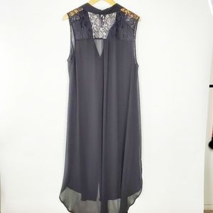 Torrid sheer Buttondown top/dress
